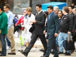 Group of Workers Walking